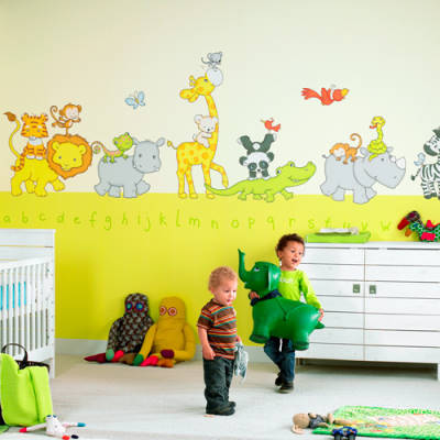 Design color wallpaper animal muralsmuralsdirectwall for Animal wall mural