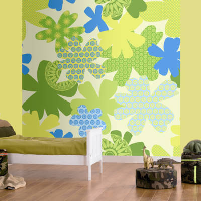 All murals in room settings wall for Camouflage mural