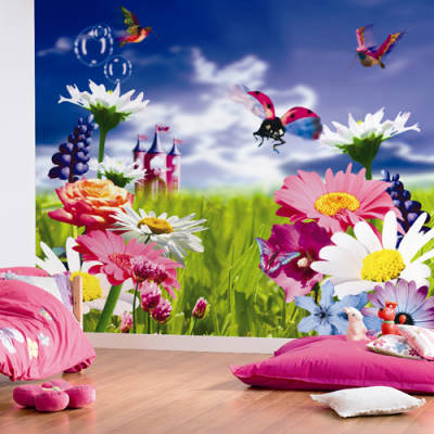 X 280cm wall murals to buy for Mural flower