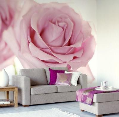 flowers and garden murals wall. Black Bedroom Furniture Sets. Home Design Ideas