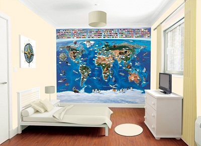 Map of The World Mural Map of The World Mural 3650